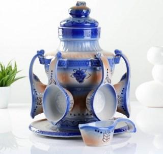 Набор для напитков: кувшин+чашки «Квасник» 4700 мл. купить в Минске +375447651009