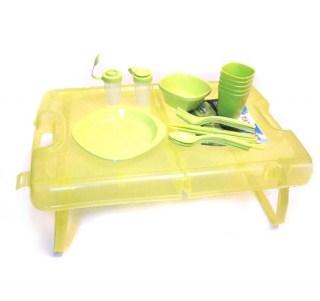Набор для пикника: складной столик+набор посуды на 4 персоны купить в Минске +375447651009