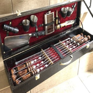Набор для шашлыка в чемодане «Аристократ» 17 предметов купить Минск
