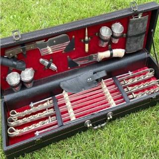 Набор для шашлыка в чемодане «Бисмарк» 18 предметов черный Минск