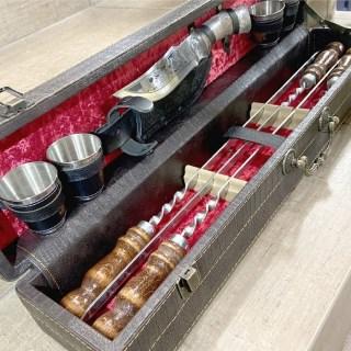 Набор для шашлыка в чемодане «Classic» 10 предметов коричневый Минск +375447651009