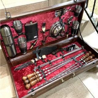 Набор для шашлыка в чемодане «Эксперт» люкс 44 предмета Минск +375447651009
