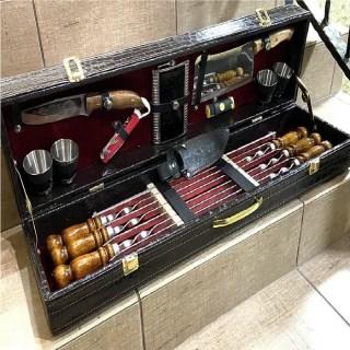 Набор для шашлыка в чемодане «Elegant» 17 предметов Минск +375447651009
