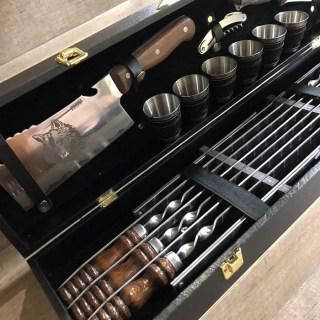 Набор для шашлыка в чемодане «Этикет» 16 предметов Минск +375447651009