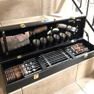 Набор для шашлыка в чемодане «Этикет» 17 предметов Минск +375447651009