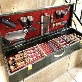 Набор для шашлыка в чемодане «Генерал» 18 предметов Минск +375447651009