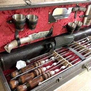 Набор для шашлыка в кожаном чемодане «Гранд» 15 предметов Минск +375447651009