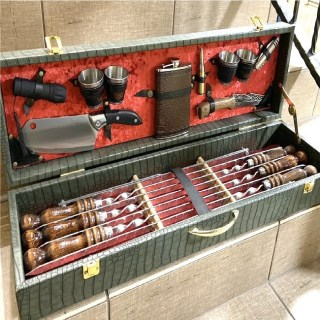 Набор для шашлыка в чемодане «Консул» 18 предметов зеленый Минск +375447651009