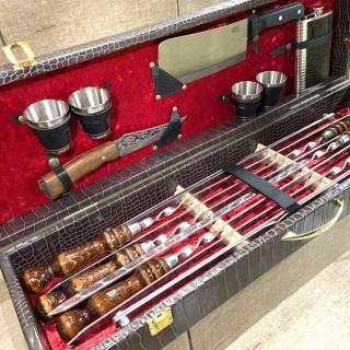 Набор для шашлыка в чемодане «Маэстро» 17 предметов №7 Минск +375447651009