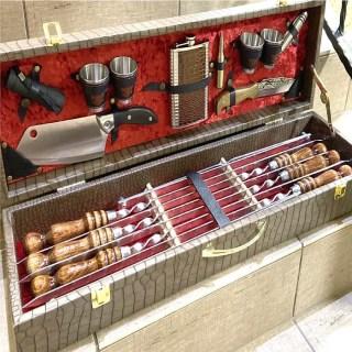 Набор для шашлыка в чемодане «Престиж» 17 предметов Минск +375447651009
