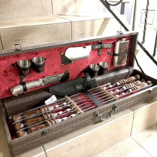 Набор для шашлыка в чемодане «Престиж» коричневый Минск +375447651009