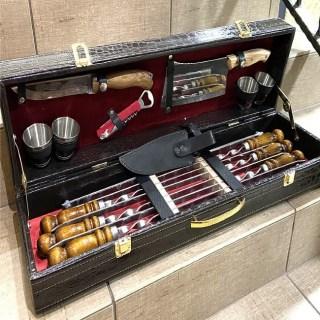 Набор для шашлыка в чемодане «Трек» 15 предметов Минск +375447651009