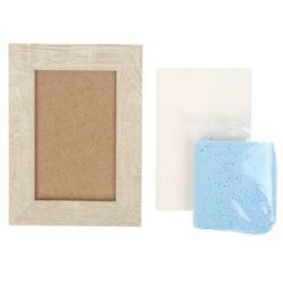 Набор для создания слепка в рамке голубой купить в Минске +375447651009
