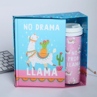 Набор:ежедневник+термостакан «Лама» купить в Минске +375447651009