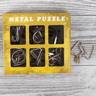 Набор головоломок «Metal puzzle» 6 шт. №4 Минск +375447651009