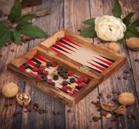 Набор игр в деревянной шкатулке: шашки+нарды купить в Минске +375447651009