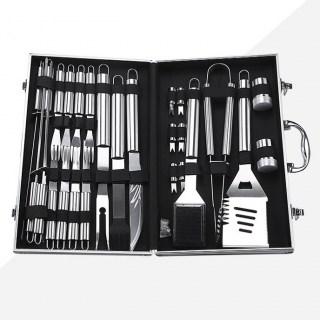 Набор инструментов для барбекю 26 предметов в чемодане купить Минск +375447651009