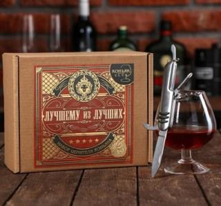 Набор «Лучший из лучших»: бокал для коньяка+нож купить в Минске +375447651009
