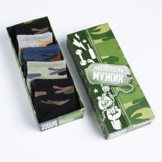 Набор носков «Настоящий мужик» 5 пар купить в Минске +375447651009