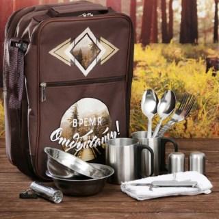 Набор-рюкзак для пикника «Время отдыха» на 2 персоны 13 пр. Минск +375447651009