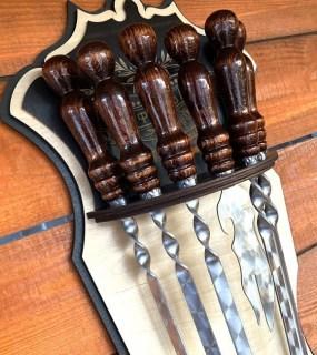 Набор шампуров на подставке «Лучший шеф повар» 7 предметов Минск +375447651009