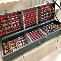 Набор шампуров с мангалом в кожаном чемодане «Генерал» зеленый Минск +375447651009