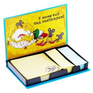 Набор:стикеры+блок для записей «Все под контролем» купить в Минске +375447651009