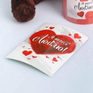 Набор:свеча+мягкая игрушка «Люблю» купить в Минске +375447651009