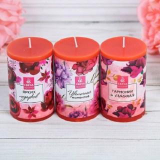 Набор свечей «Гармонии и счастья» цветочный микс купить в Минске +375447651009