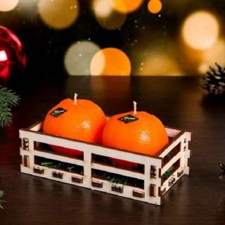 Набор свечей «Мандарины» 2 шт. купить в Минске +375447651009