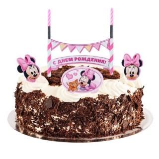 набор свечей с днем рождения малышка минни купить