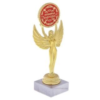 Награда - Ника «Любимая бабушка» на белом камне купить в Минске +375447651009