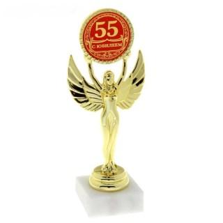 Награда - Ника «С юбилеем 55 лет» на белом камне купить в Минске +375447651009