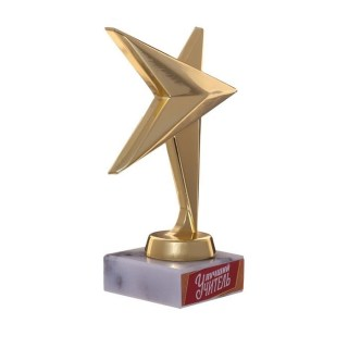Награда - звезда «Лучший учитель» 11 см купить в Минске +375447651009