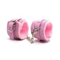 Наручники меховые розовые с цепочкой 18+ купить в Минске +375447651009