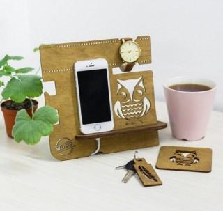 Настольный деревянный органайзер «Сова» купить Минск +375447651009