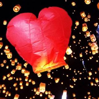 Небесный фонарик «Сердце» купить в Минске +375447651009