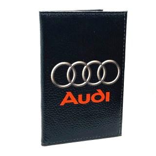Обложка для автодокументов «AUDI» из натуральной кожи Минск +375447651009