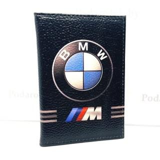 Обложка для автодокументов «BMW M» натуральная кожа Минск +375447651009