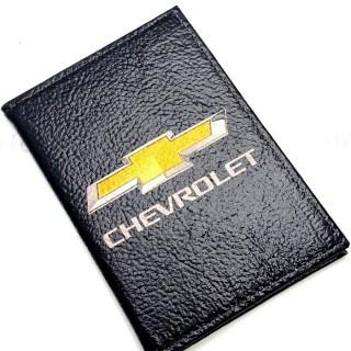 Обложка для автодокументов «Chevrolet» натуральная кожа Минск +375447651009