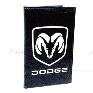 Обложка для автодокументов «DODGE» из натуральной кожи Минск +375447651009