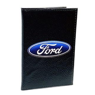Обложка для автодокументов «Ford» кожаная Минск +375447651009