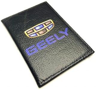 Обложка для автодокументов «GEELY» натуральная кожа Минск +375447651009