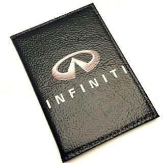 Обложка для автодокументов «INFINITI» из натуральной кожи Минск +375447651009