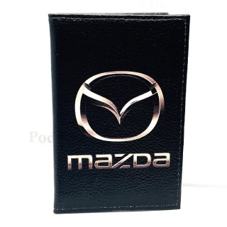 Обложка для автодокументов «MAZDA» из натуральной кожи Минск +375447651009
