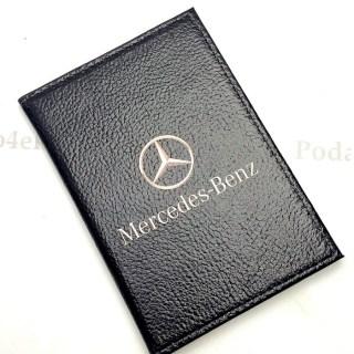 Обложка для автодокументов «Mercedes-Benz» натуральная кожа Минск +375447651009