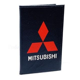 Обложка для автодокументов «Mitsubishi» из натуральной кожи Минск +375447651009