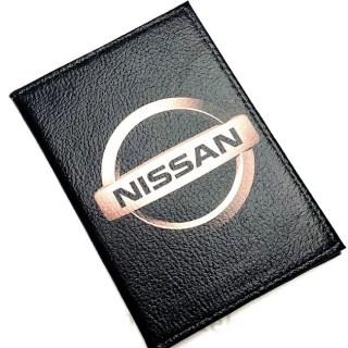Обложка для автодокументов «NISSAN» из натуральной кожи Минск +375447651009