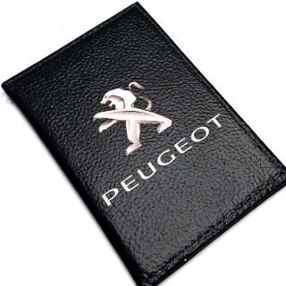 Обложка для автодокументов «PEUGEOT» кожаная Минск +375447651009