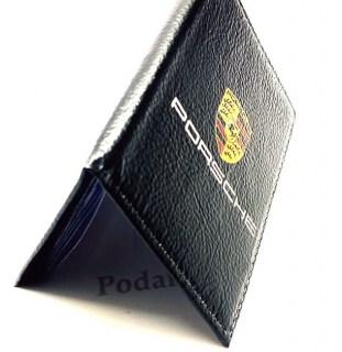 Обложка для автодокументов «PORSCHE» из натуральной кожи Минск +375447651009
